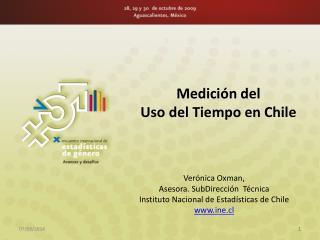 Medici�n del  Uso del Tiempo en  Chile