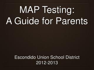MAP Testing: A Guide for Parents