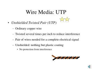 Wire Media: UTP