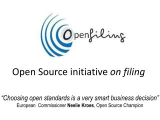 Open Source initiative  on filing