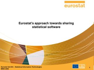 Eurostat's approach towards sharing statistical software