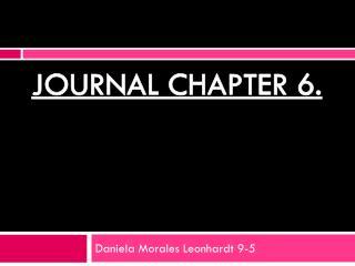 Daniela Morales Leonhardt 9-5