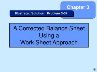A Corrected Balance Sheet Using a Work Sheet Approach