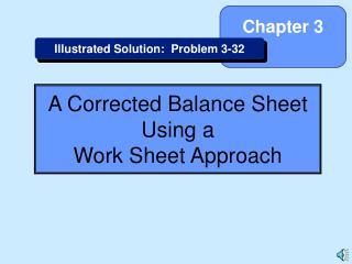 A Corrected Balance Sheet Using a Work Sheet Approach