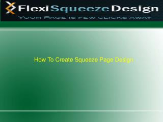 Do it Yourself - Squeeze Page Design