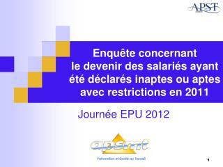 Journée EPU 2012