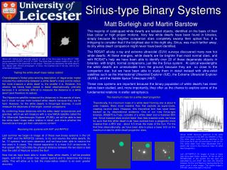 Sirius-type Binary Systems