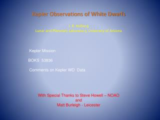 Kepler Observations of White Dwarfs