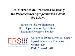 Sarahelen (Sally) Thompson U.S. Department of Agriculture Economic Research Service