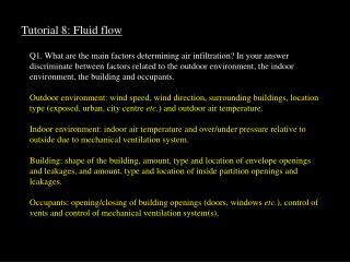 Tutorial 8: Fluid flow