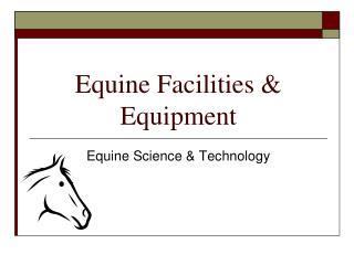 Equine Facilities & Equipment