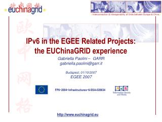 IPv6 in the EGEE Related Projects: the EUChinaGRID experience