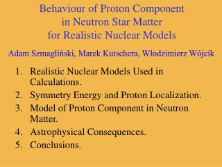 Behaviour of Proton Component in Neutron Star Matter for Realistic Nuclear Models