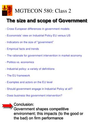 - Cross European differences in government models