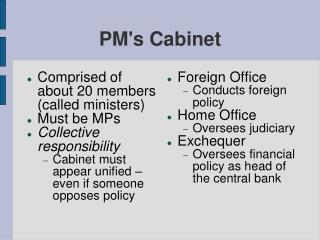 PM's Cabinet
