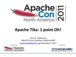 Apache Tika: 1 point Oh!