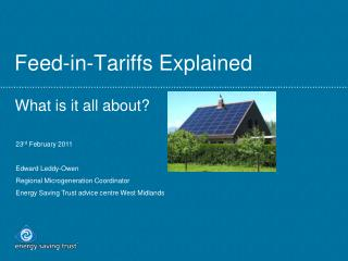 Feed-in-Tariffs Explained