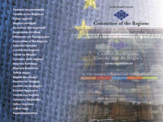 Po co Komitet Regionów ?