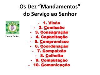 """Os Dez """"Mandamentos"""" do Serviço ao Senhor"""