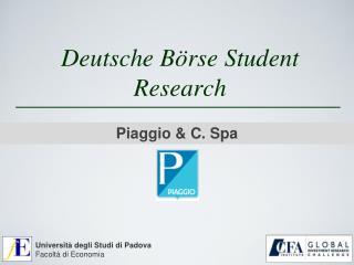 Deutsche Börse  Student Research