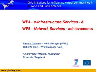 WP4 -  e-Infrastructure Services  - &   WP5 -  Network Services  - achievements