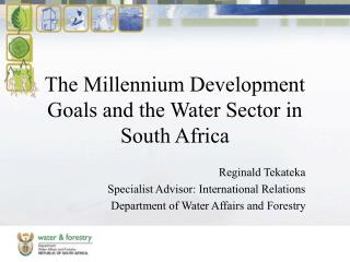 The Millennium Development Goals and the Water Sector in South Africa
