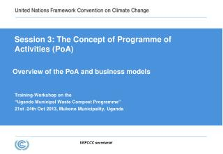 Overview of the PoA and business models