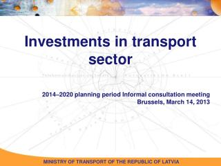 Investments in transport sector