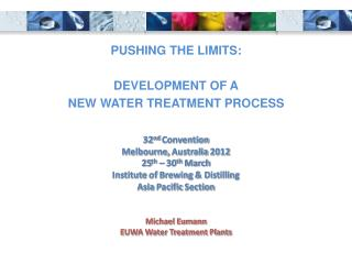 Michael Eumann EUWA Water Treatment Plants