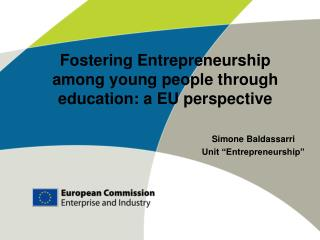 Fostering Entrepreneurship among young people through education: a EU perspective