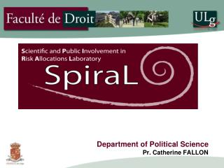 Department of Political Science  Pr. Catherine FALLON