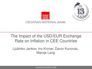 The Impact of the USD/EUR Exchange Rate on Inflation in CEE Countries