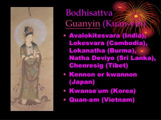 Bodhisattva Guanyin Kuan-yin