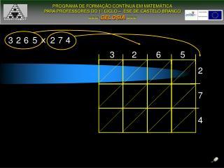PROGRAMA DE FORMAÇÃO CONTÍNUA EM MATEMÁTICA PARA PROFESSORES DO 1º CICLO –  ESE DE CASTELO BRANCO