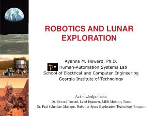 ROBOTICS AND LUNAR EXPLORATION