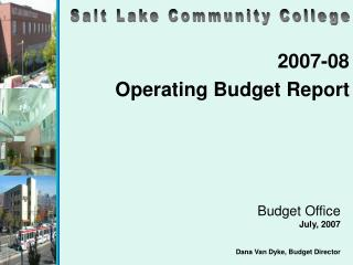 2007-08 Operating Budget Report