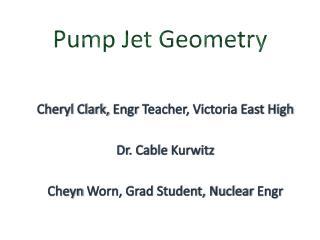 Pump Jet Geometry