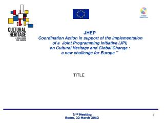 JHEP Coordination Action in support of the implementation