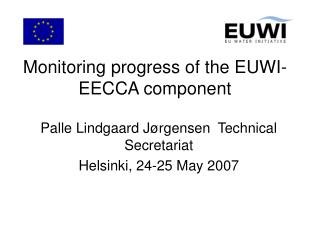 Monitoring progress of the EUWI-EECCA component