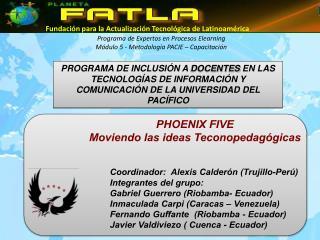 Programa de Expertos en Procesos Elearning Módulo 5 - Metodología PACIE – Capacitación