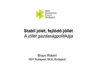 Braun Róbert NEF Budapest; BCE, Budapest