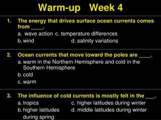 Warm-up Week 4