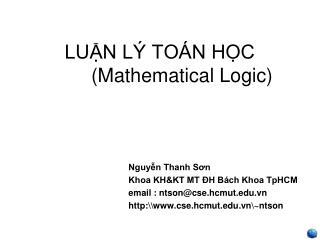 LUN L  TO N HC    Mathematical Logic