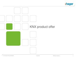 KNX product offer