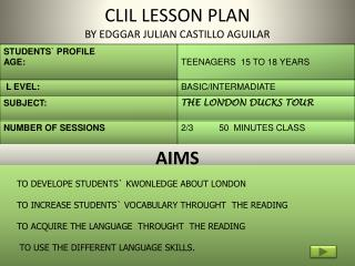 CLIL LESSON PLAN BY EDGGAR JULIAN CASTILLO AGUILAR
