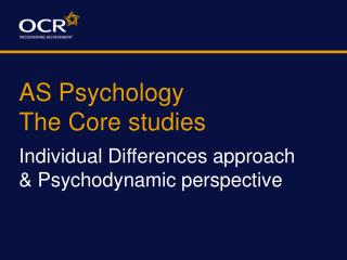 AS Psychology The Core studies