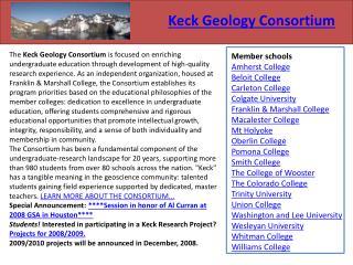 Keck Geology Consortium