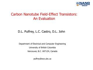 Carbon Nanotube Field-Effect Transistors: An Evaluation
