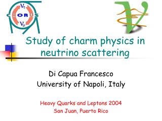 Study of charm physics in neutrino scattering