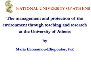 NATIONAL UNIVERSITY OF ATHENS